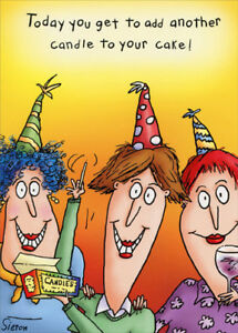 Details About Add Another Candle Oatmeal Studios Funny 80th Birthday Card For Her