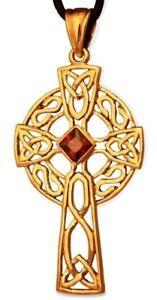 Keltisches Kreuz Arcana Anhänger Bronze Gothic Schmuck - Neu