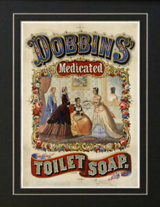 Image Is Loading 1869 Vintage Toilet Soap Bathroom Medical Poster Ad