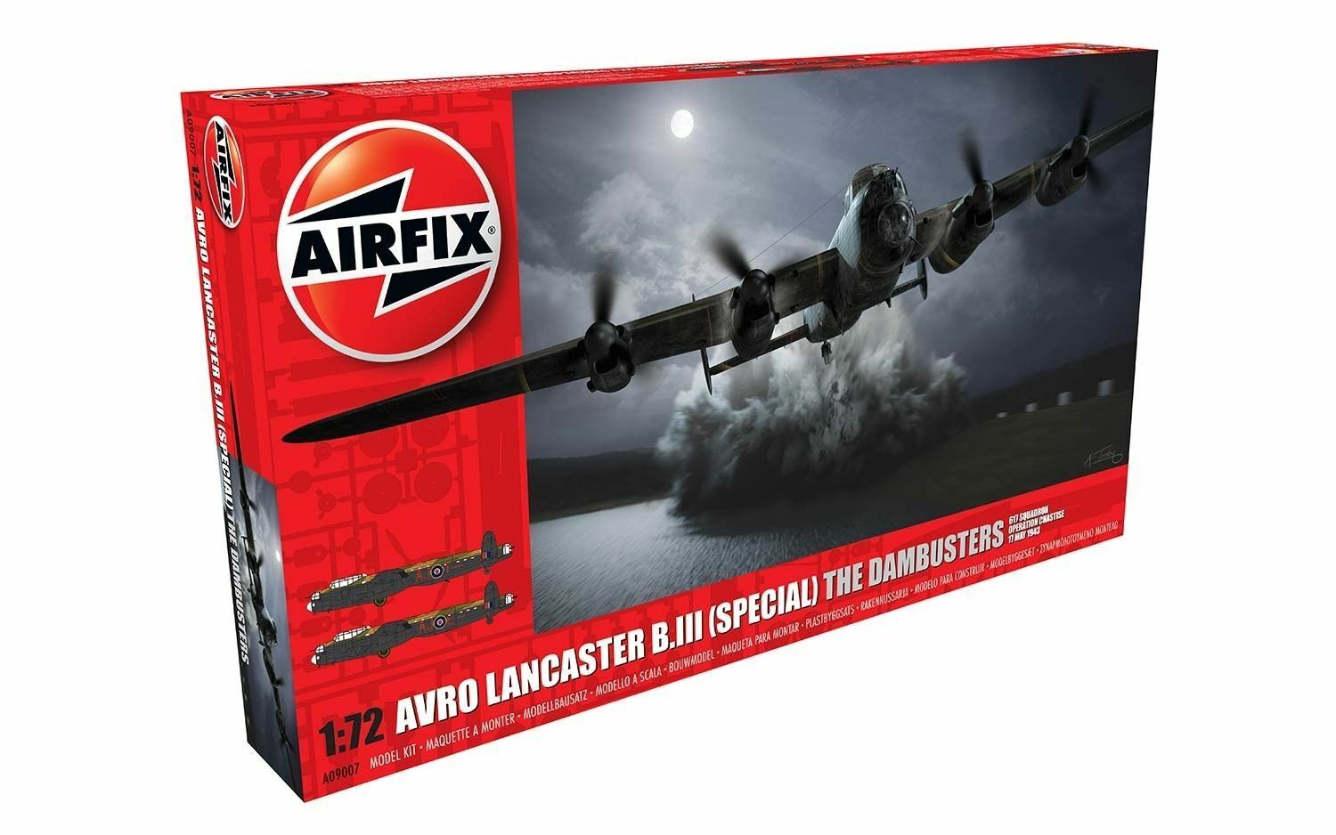RAF Royal Air Force Avro Lancaster B.III (Special) The Dambusters Airfix Set