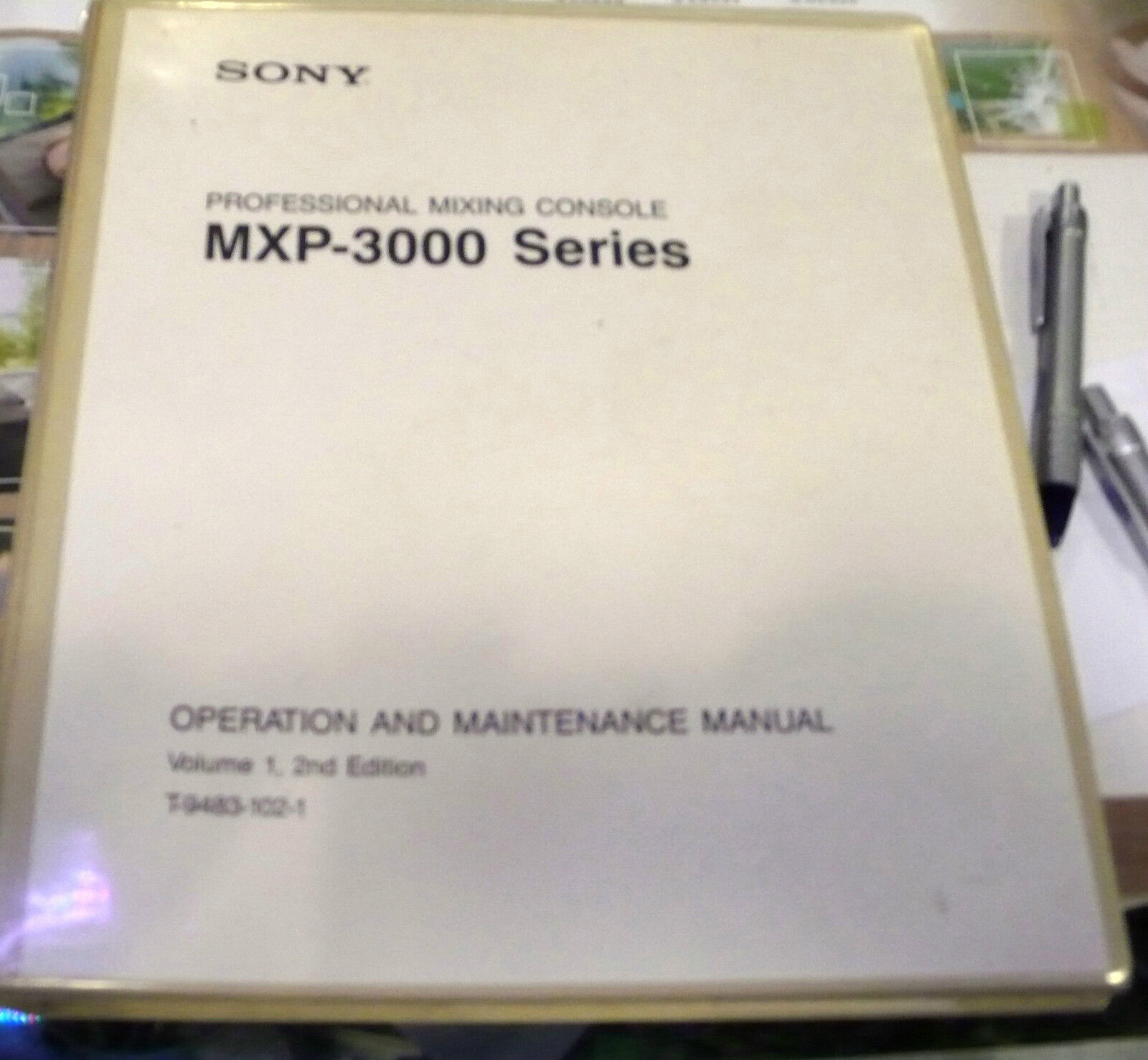 OPERATION AND MAINTANANCE VOL 1   2 ND EDITION MPX3000 SERIES CONSOLE MIXING