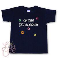 T-Shirt * Große Schwester * Wahl: MOTIV, WUNSCHNAME, Größe, Farbe ab Gr.98/104