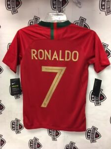 Cristiano Ronaldo 2018 Portugal World Cup Home Red Jersey Nike Youth ... a80dd9541
