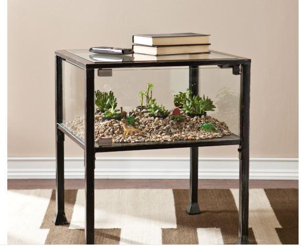 Terrarium Display Table Glass Case Stand Plants Garden