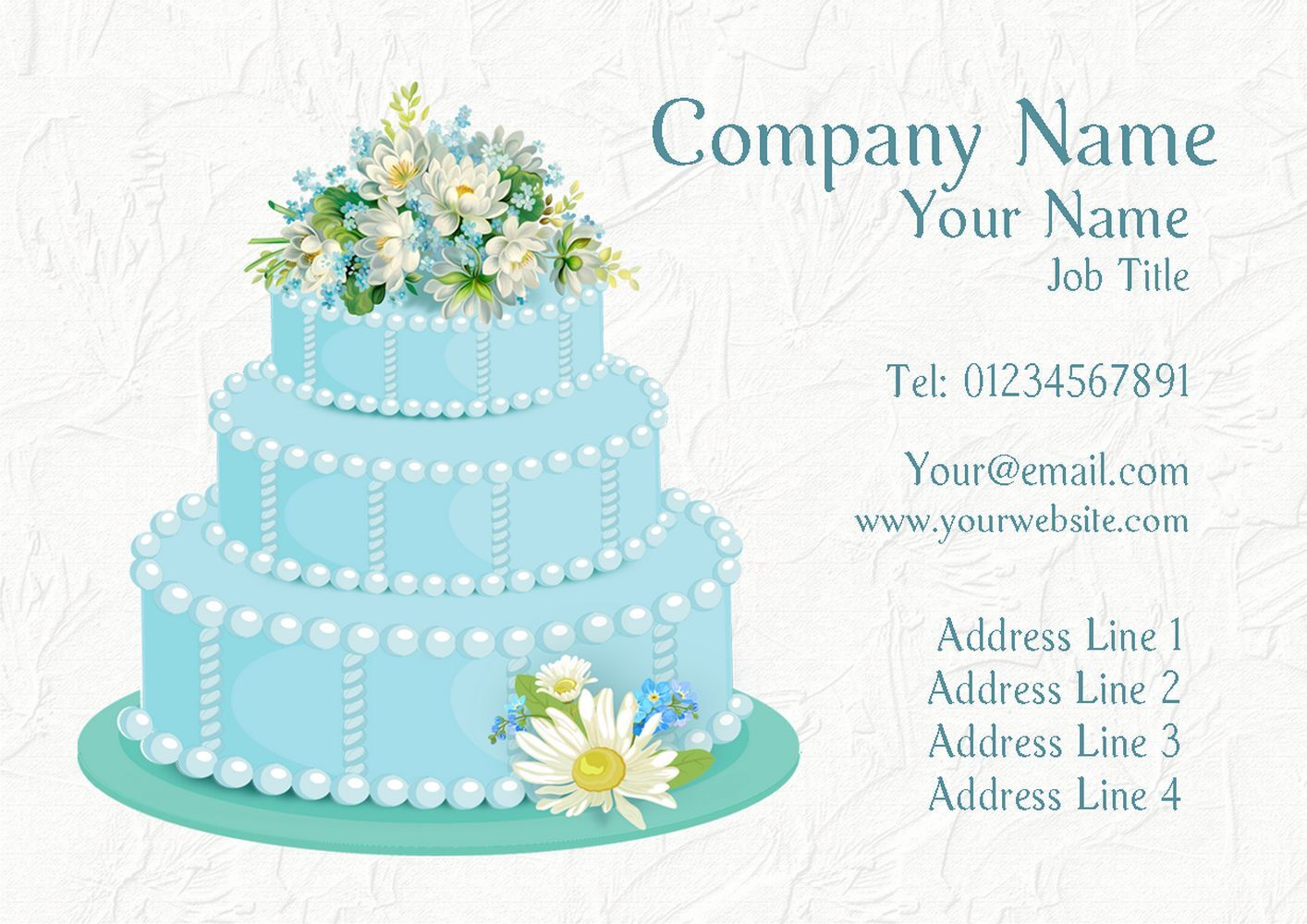 Blau Cake Personalised Business Cards