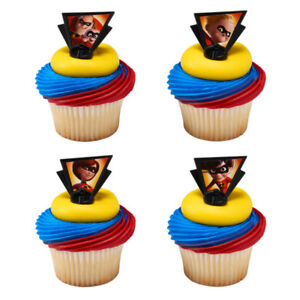 The Incredibles Pixar movie cupcake rings (24) favor cake ...