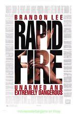 RAPID FIRE MOVIE POSTER Original DS 27x40   - BRUCE LEE 'S SON BRANDON LEE