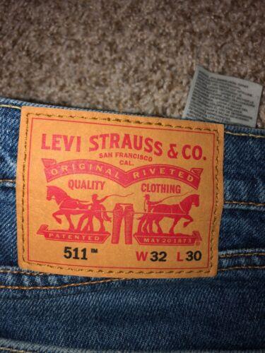 Jeans Levi Bleu 511 Slim Levi's Mens Strauss Hem Raw 32x30 xIHqEXnR