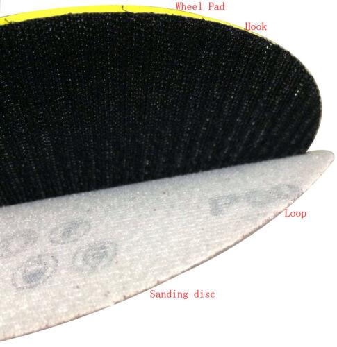 5 in Papier Abrasif Ponçage à Disque Rotatif Crochet Boucle ponceuse Grain 180 100pcs environ 12.70 cm 125 mm 8 trous