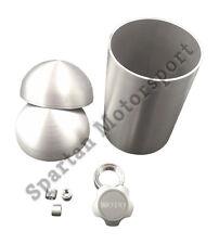 DIY Aluminum Custom Oil Tank Kit- 5 inch Domed end caps. Bobber, Chopper, Rigid