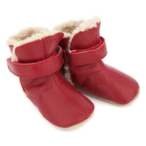 NEW-SKEANIE-Pre-walker-Baby-amp-Toddler-SNUG-Boots-Red-0-to-2-years