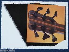 an/ handmade greetings / birthday card WARWICK 6 STRING BASS DETAIL