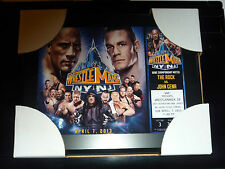 WWE CATCH PLAQUE RARE WRESTLEMANIA 29 ROCK VS CENA WRESTLE