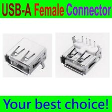 10 Pcs USB Type-A Right Angle 4 Pin FeMale 90 degree Connector Jacks