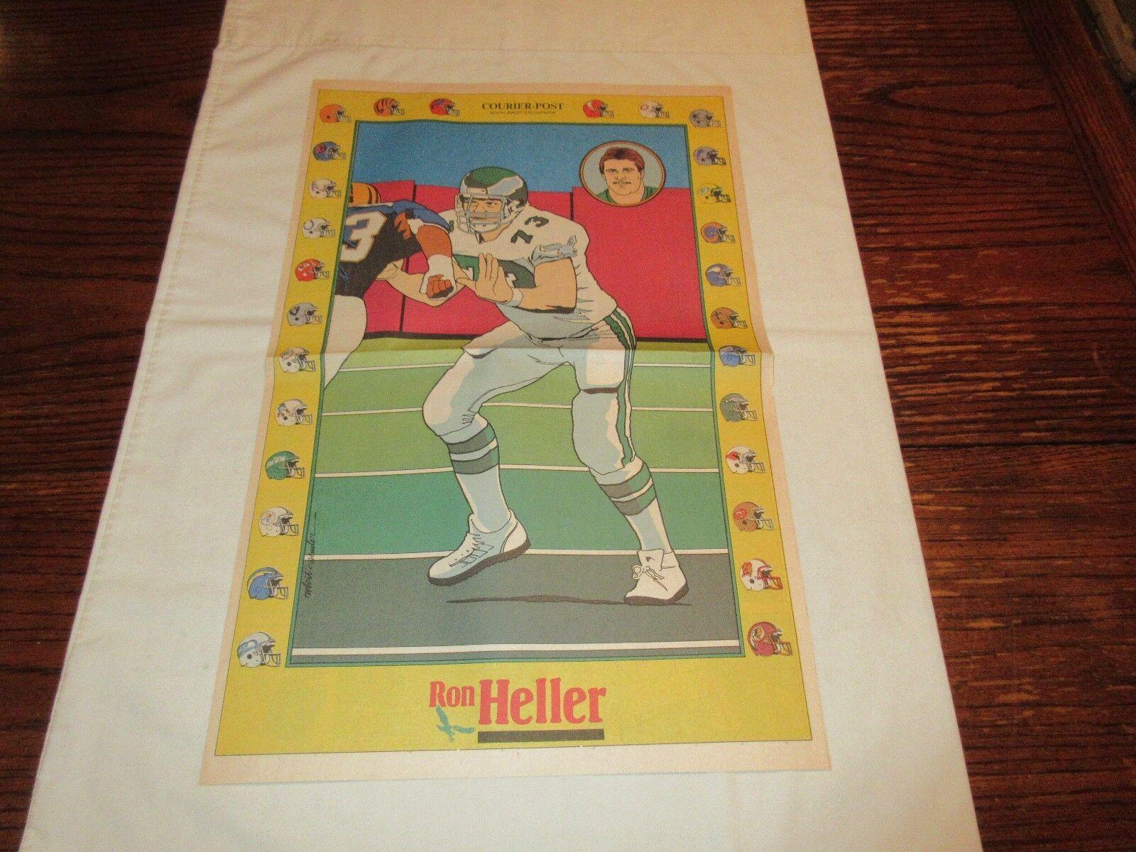Ron Heller , Philadelphia Eagles , 12/18/88 , Newspaper