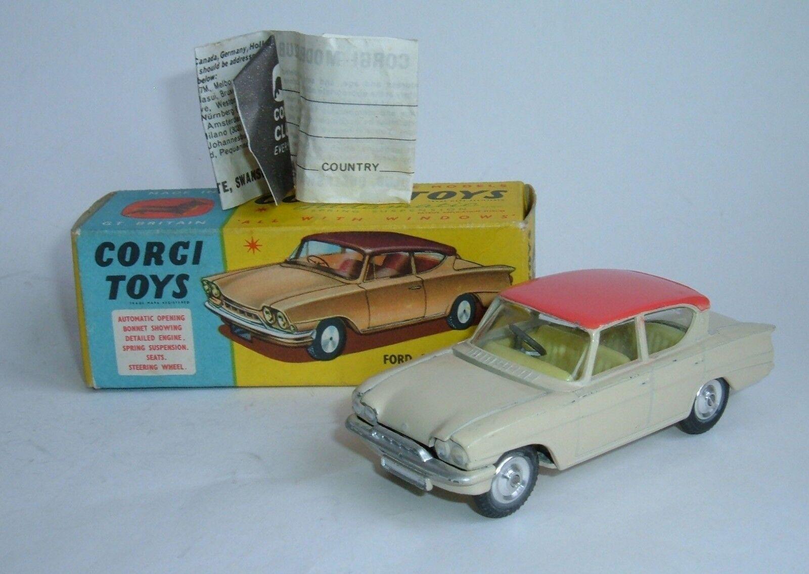 CORGI TOYS Nº 234, Ford Consul Classic FORD CONSUL 315, - SUPERBA N Nuovo di zecca.