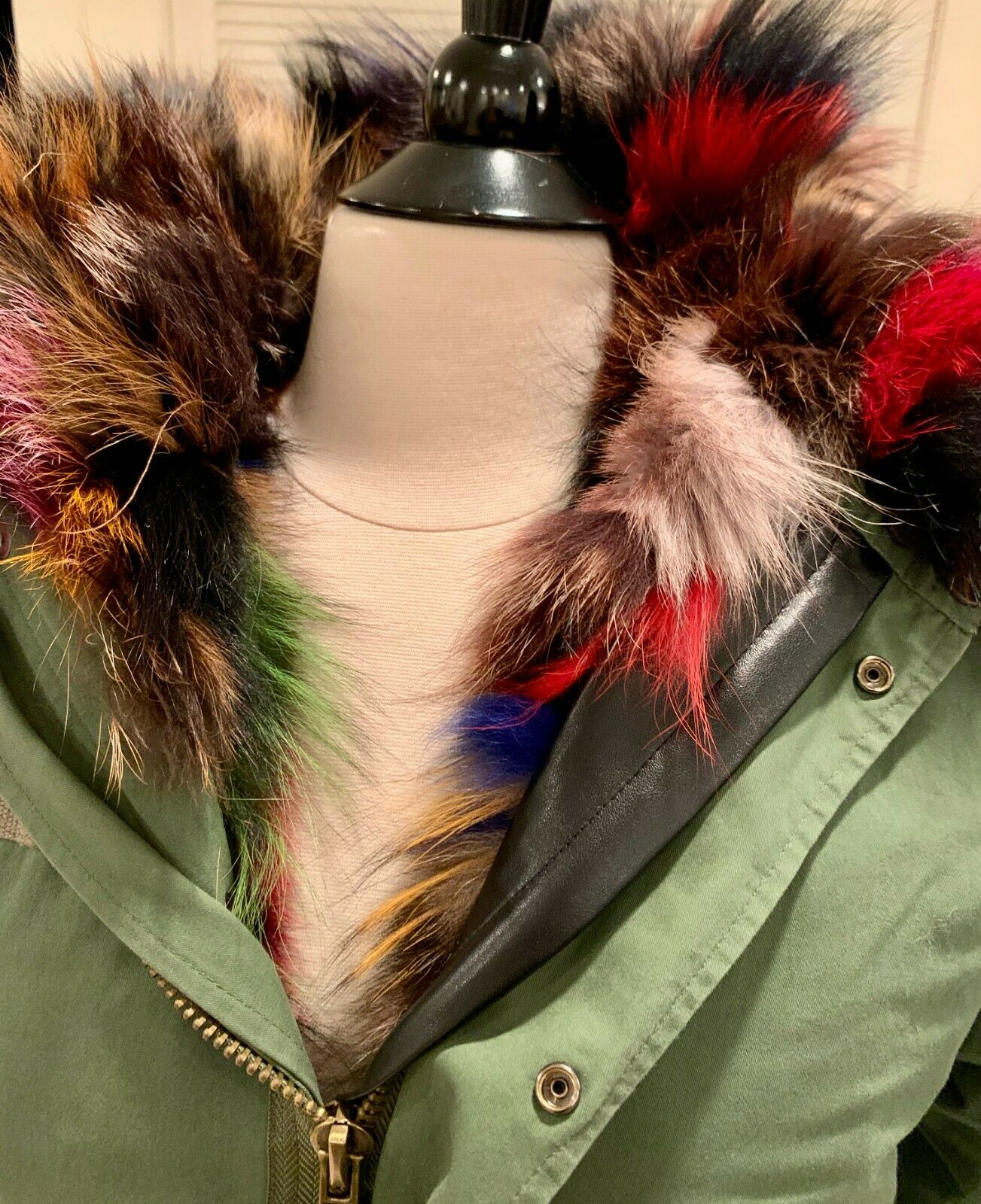 D. Damiani NY Multi-Color Fur Lined Coat Small - image 2