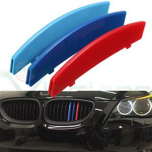 3x-Striscia-3D-BMW-M-SPORT-cover-copri-griglia-calandra-pr-Serie-5-E60-2004-2010