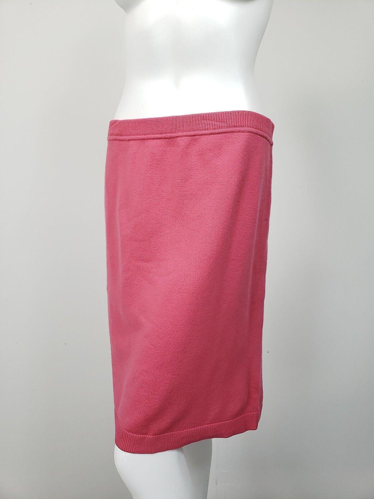 WORTH pink Pink Wool Stretch Knit Elastic Waist Straight Skirt sz S NWT