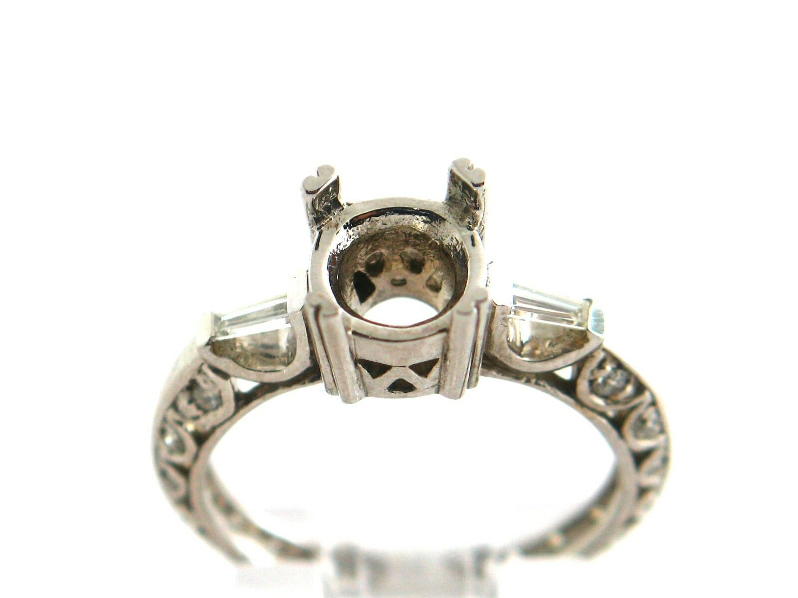 0.40 CT Natural Diamond Lady's Semi Mount Ring VS2 F 14K White gold.