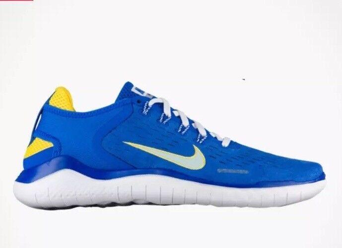 New Nike Free Run RN 2018 DNA shoes bluee Cobalt Citron AH7870 400 Mens Sz 10