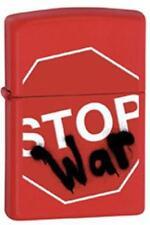 Zippo 28140 stop war red matte RARE & DISCONTINUED Lighter
