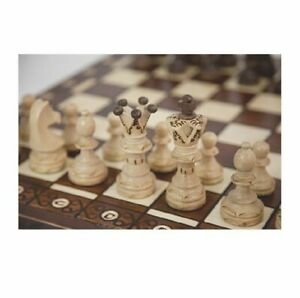 Vintage-Wooden-Chess-Game-Hand-Carved-Board-Pieces-Large-21-Inch-Full-Set-New