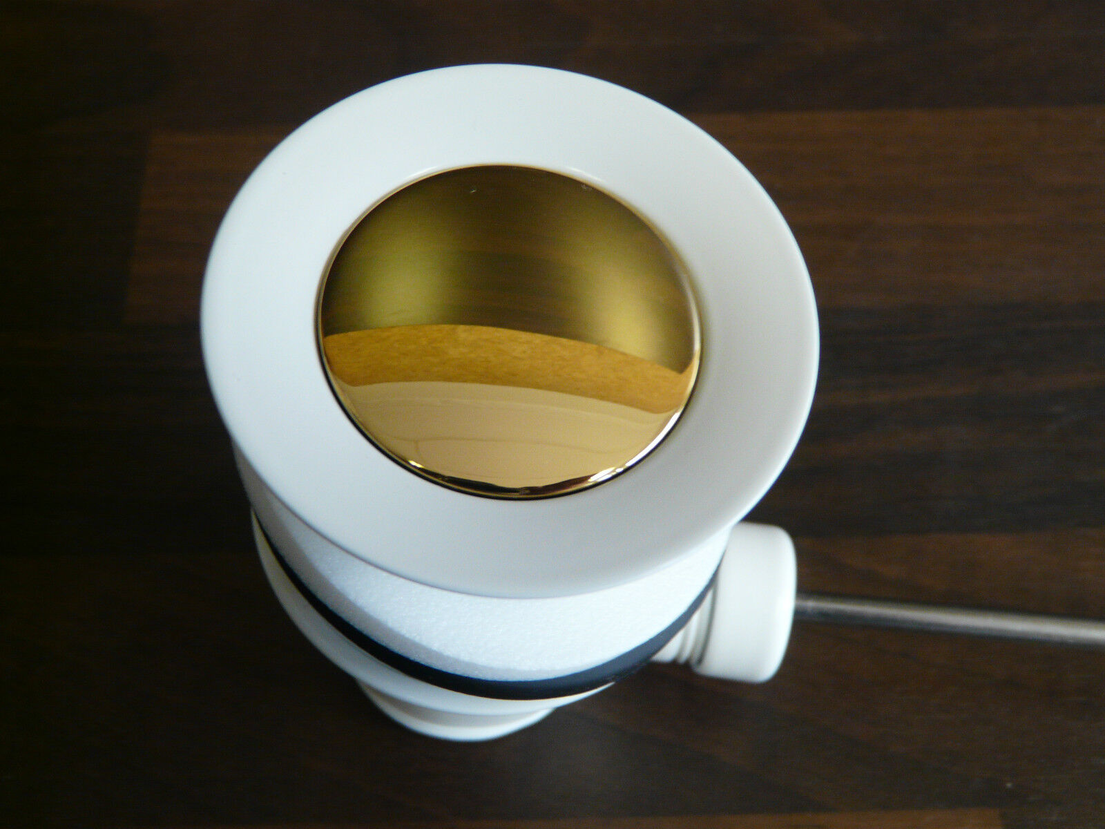 Ablaufgarnitur Weiss Gold (24 Karat), Ablaufventil, Excenter, Waschtisch | | | Sehr gelobt und vom Publikum der Verbraucher geschätzt  | Moderne Technologie  | Großer Verkauf  | Ab dem neuesten Modell  e2c543