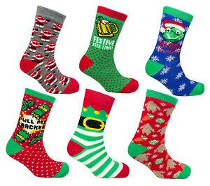 Mens-Novelty-Christmas-Fleece-Lined-Slipper-Socks-Adults-Xmas-Festive-Clothing