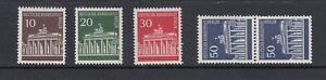 Berlin-Rollenmarke-Mi-Nr-286-289-R-postfrisch