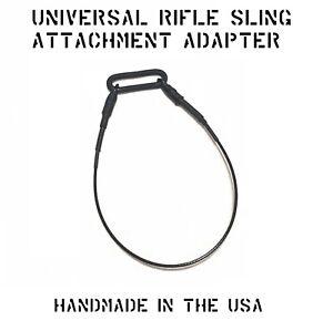 "UNIVERSAL WEAPON RIFLE SLING LOOP M-LOK KEYMOD RAIL ADAPTER 1/"" TRI-RING MADE USA"