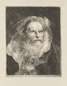 Old Man Meditating G.B Fine Art Print Tiepolo Reproduction
