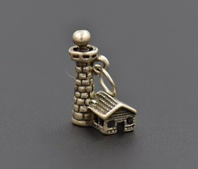 Sterling silver 3D lighthouse charm