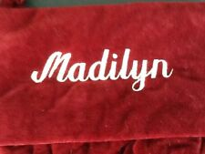 """Pottery Barn Red Channel Quilted Christmas Stocking """"MADILYN""""  New!"""