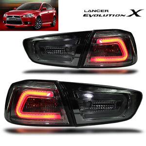 LED TAIL LIGHT SMOKE BLACK LAMP MITSUBISHI Evolution 10 X LANCER EX 2008-2015 CJ   eBay