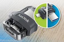 SANDISK 16 GB ULTRA DUAL USB m3.0 OTG PEN DRIVE .