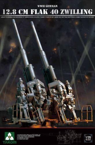 Takom 1//35 2023 German 12.8Cm Flak 40 Zwilling