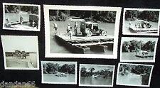 1938 JUNGLE CAR FERRY crossing RIO MAGDALENA Colombia South America de Oro JEEP