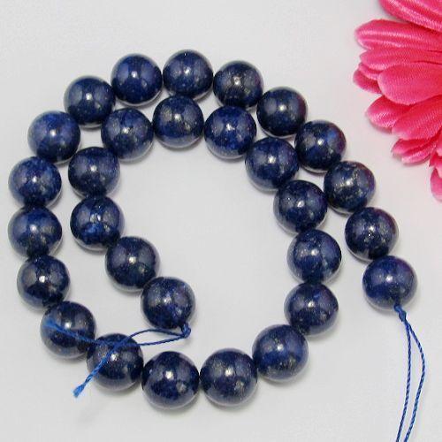 Naturel Lapis Lazuli 14mm Ronde  Perles 1 Fil