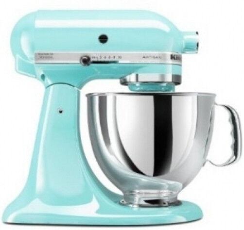 KitchenAid Tilt Back Head Stand Mixer 325 Watt 5 Quart Ice RKSM150PSIC Blue