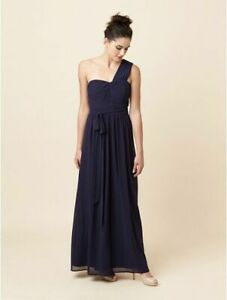 Details about REVIEW Women's Dress NWT rrp $319.99 Size 6 8 US 2 4 Blue One Shoulder Maxi