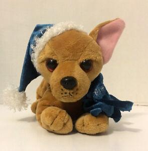 52dfd6bdbc5 Image is loading Grumpy-Christmas-Chihuahua-Plush-Stuffed-Animal-w-hat-
