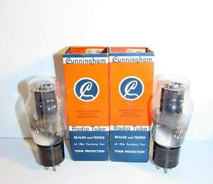 New-In-Box-Matched-Pair-Cunningham-2A3-spring-loaded-amplifier-tubes