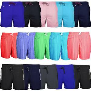 Clothes, Shoes & Accessories Men's Clothing Süß GehäRtet Mens Summer Swimming Swim Shorts Plain Striped Zip Pockets Various Styles S-xxl