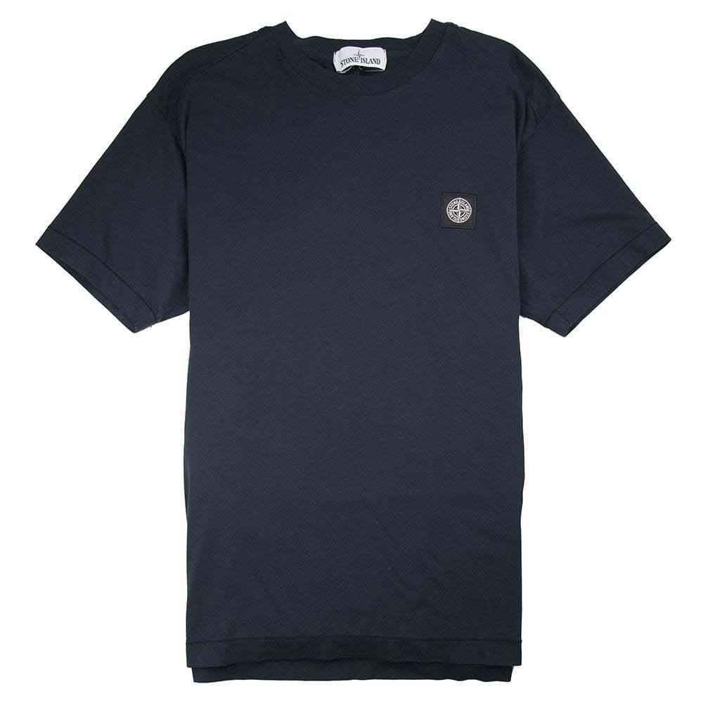 Stone Island Logo Patch T-Shirt Navy