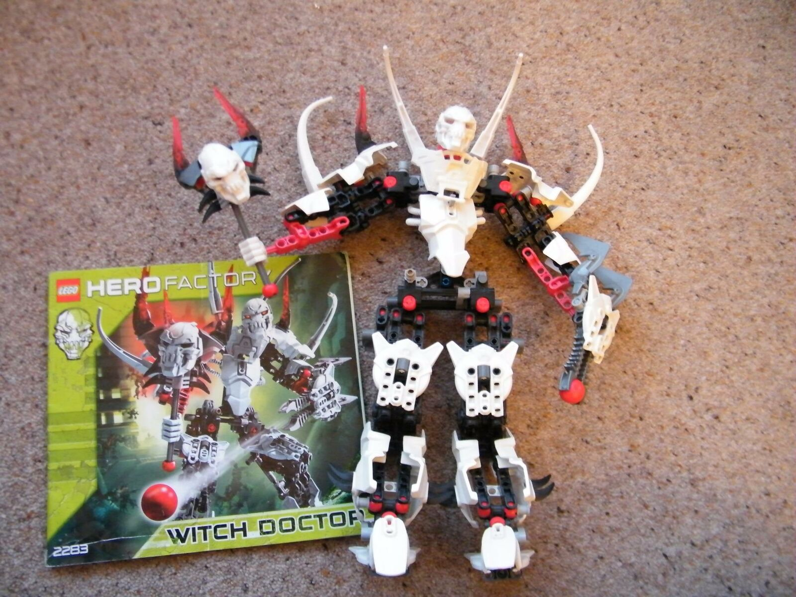Lego Hero Factory Witch Doctor Set 2283 Figure & Instructions complet rare