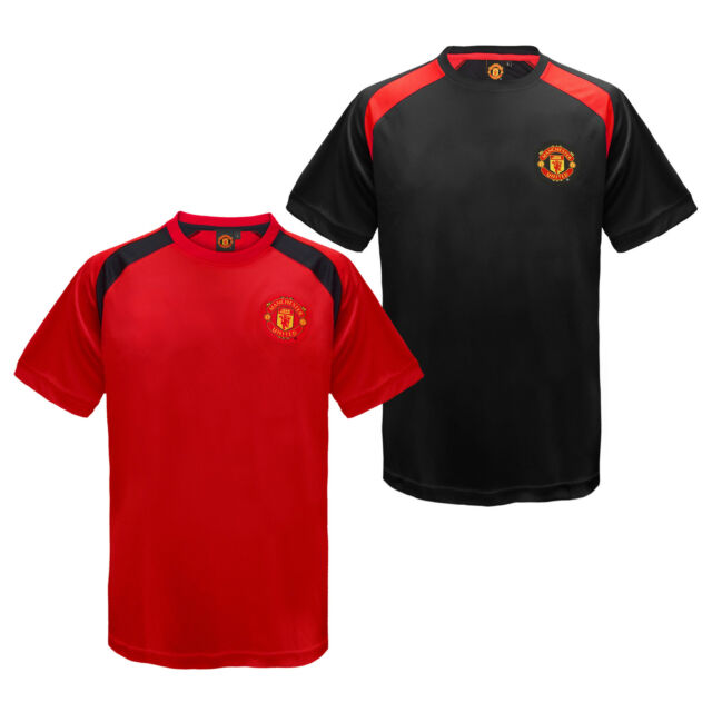 best sneakers e8ffa 8f3b1 Manchester United Football Club Official Gift Boys Poly Training Kit T-Shirt