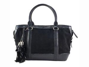 Silvio-Tossi-Handtasche-aus-schwarzem-Wildleder-Leder