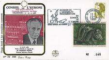 """CE38A FDC Conseil de l'Europe """"Shimon PERES, Premier Ministre d'Israël"""" 04-1986"""