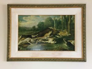 Oil-Painting-Frans-Snyders-Jabali-Harassed-Dogs-Courser-Round-Up-Wild-Board-Art